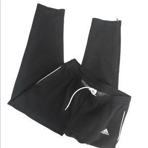 Vintage Adidas Classic Black Joggers-Adult L